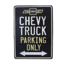 Chevy Truck Parking Metal Sign