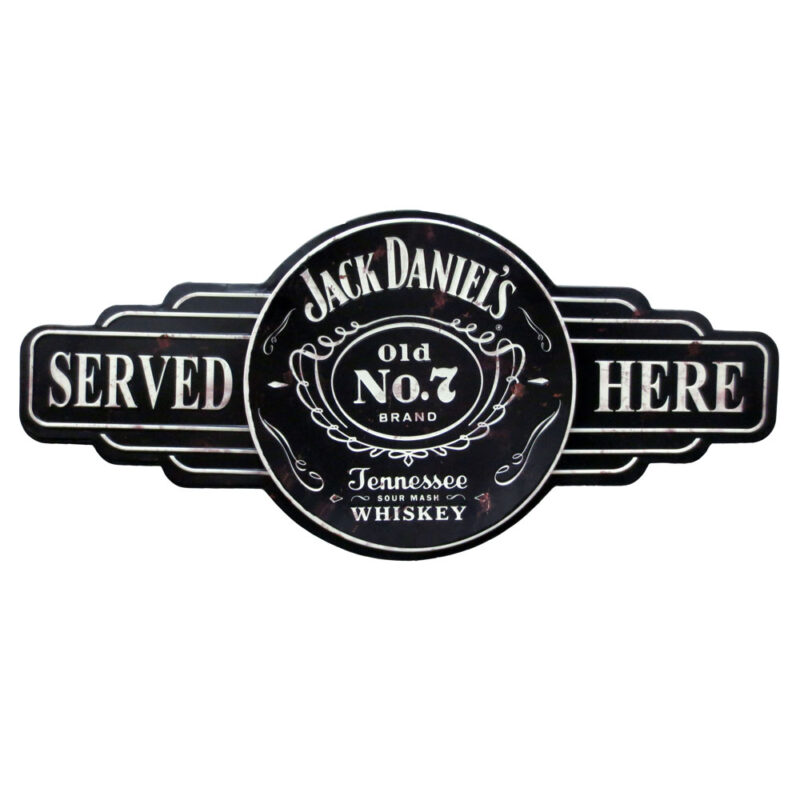Jack Daniel's Served Metal Sign