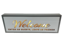 Starlight LED Sign: Welcome