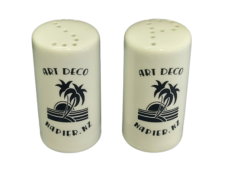 Art Deco Salt & Pepper Shakers Set (Palm Trees)