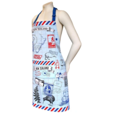 Apron NZ Postage Kiwi Design (Comes with FREE Matching Tea Towel)
