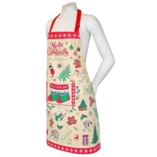 Apron NZ X-Mas Design (Comes with FREE Matching Tea Towel)