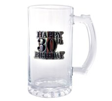 Badged Beer Glass (Happy 30th Birthday)