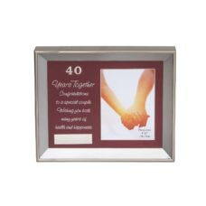 40th Anniversary Photo Frame Glass Box