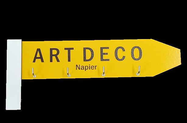 Art Deco Napier Wooden Key Holder