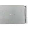 Guest Book (White Leather) with Pen