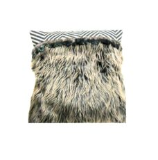 Cushion Cover with Feathers (Brown)