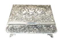 Jewellery Box Queen Anne – Small (Silver Plated)