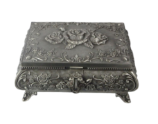 Jewellery Box Queen Anne – Large (Pewter Finish)