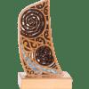 Wooden Maori Design Waka Stern on Base