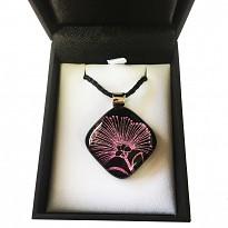 Dichroic Glass Pendant: Pohutukawa