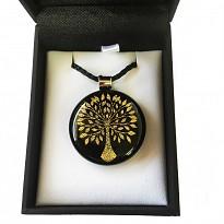 Dichroic Glass Pendant: Tree
