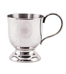 Christening Mug – Curved (Polished Pewter)