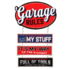 Garage Rules Wall Plaque