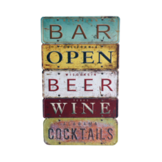 Bar License Plate Style Wall Plaque