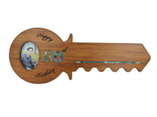 Happy 60th Birthday Key (Rimu – Horizontal with Photo)