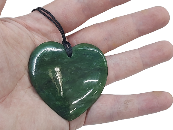 NZ Greenstone / Pounamu Heart (Medium)