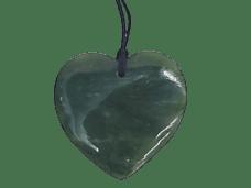 NZ Greenstone / Pounamu Heart Pendant (Medium)