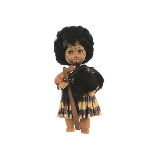 Maori Doll: Warrior with Piupiu