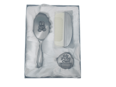 Baby Brush, Comb & First Curl (Teddy Bear Gift Set)
