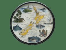 Map of NZ Souvenir Plate (Large)