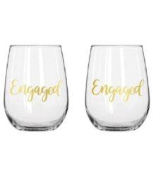 Stemless Wine Glass Set (Engaged)