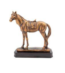 Bronze Horse on Base Resin Trophy