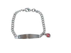 Medic ID – Bracelet with Charm (Stainless Steel)
