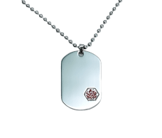 Medic ID – Dog Tag Necklace (Large)