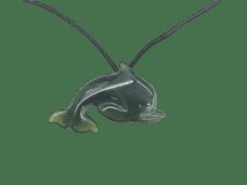 NZ Greenstone / Pounamu Dolphin Necklace