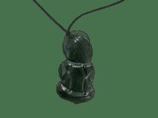 NZ Greenstone / Pounamu Tiki Necklace (Large)