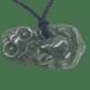 NZ Greenstone Pounamu Tiki Necklace (Sideways)