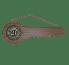21st Carved Kauri Key (#419)