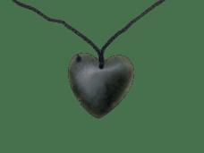 NZ Greenstone / Pounamu Heart Necklace (Flat – Matte Finish)